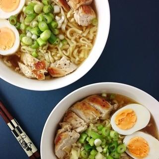 Einfache Ramen Suppe