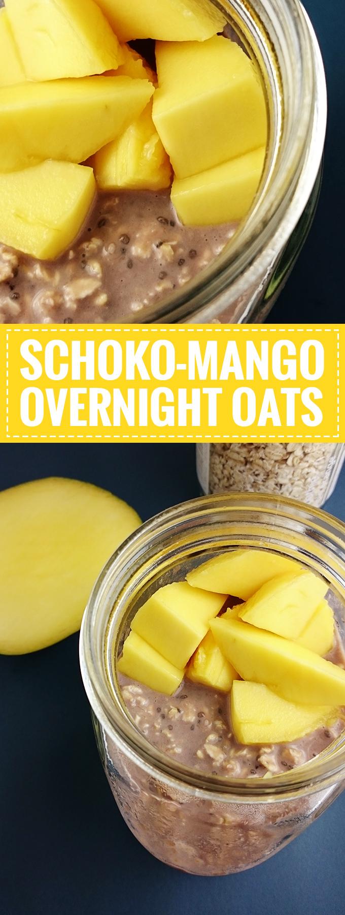Schoko-Mango Overnight Oats // Gesund und macht Pappsatt! // Knabberkult.de