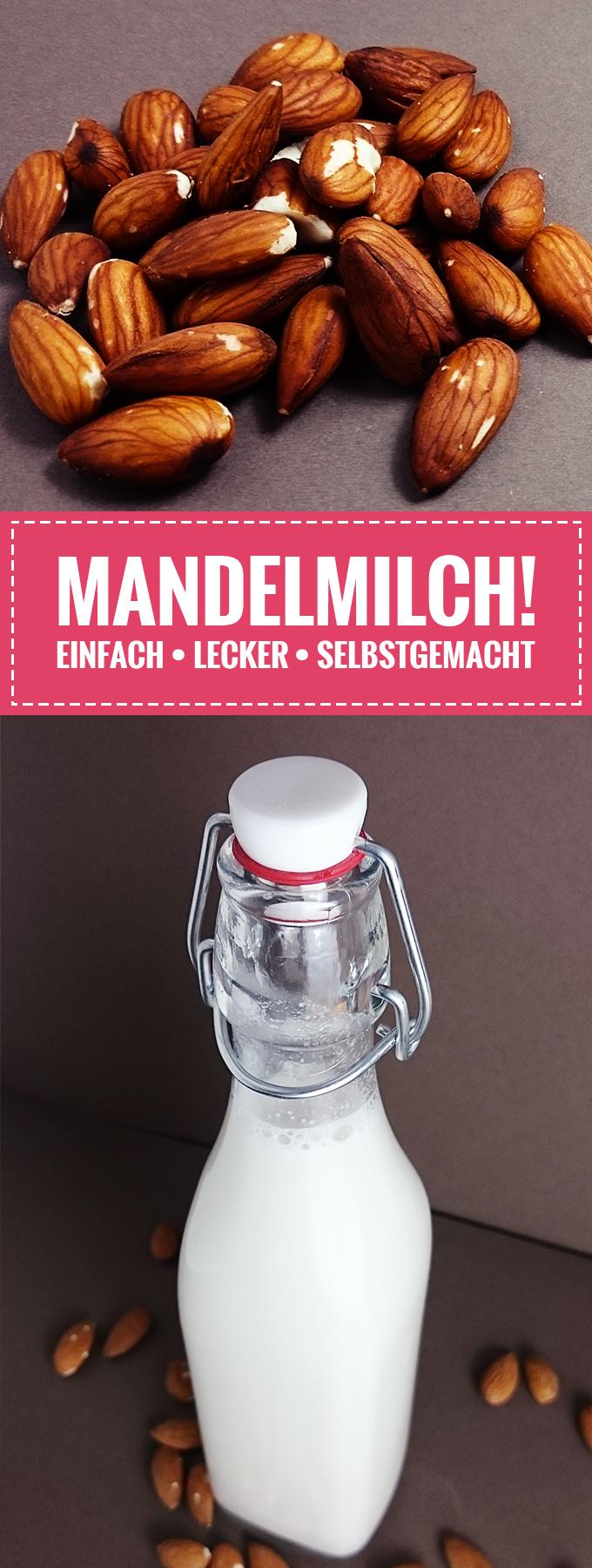 Super leckere Mandelmilch – Ganz einfach selbst gemacht! // Knabberkult.de