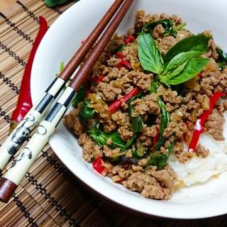 Thai-Hackfleisch mit Basilikum (Pad Krapao)