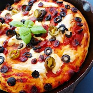 Pan Pizza aus der Eisenpfanne