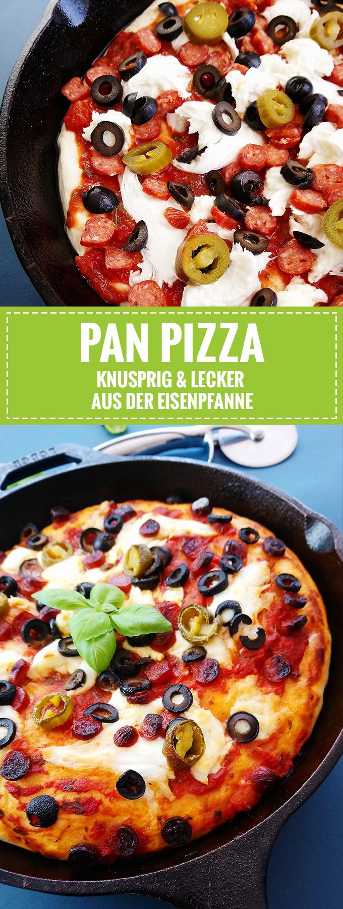 Knusprig & lecker // Pan Pizza aus der Eisenpfanne // Knabberkult.de