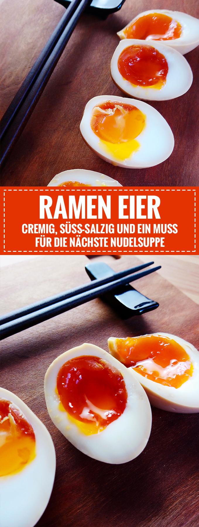 Cremig, süß-salzige Ramen-Eier // Perfekt für die nächste Instant Nudelsuppe // Knabberkult.de