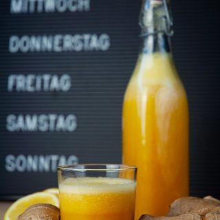 Orangen – Ingwershot mit Kurkuma