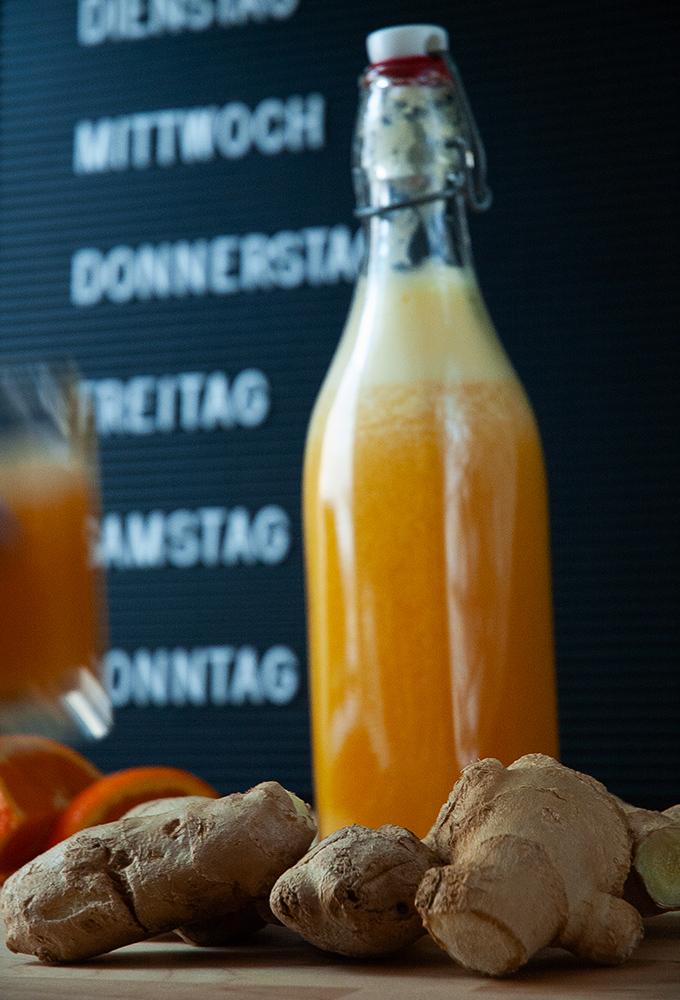 Vitaminbombe pur // Ingwershot mit Orangen und Kurkuma // Knabberkult.de